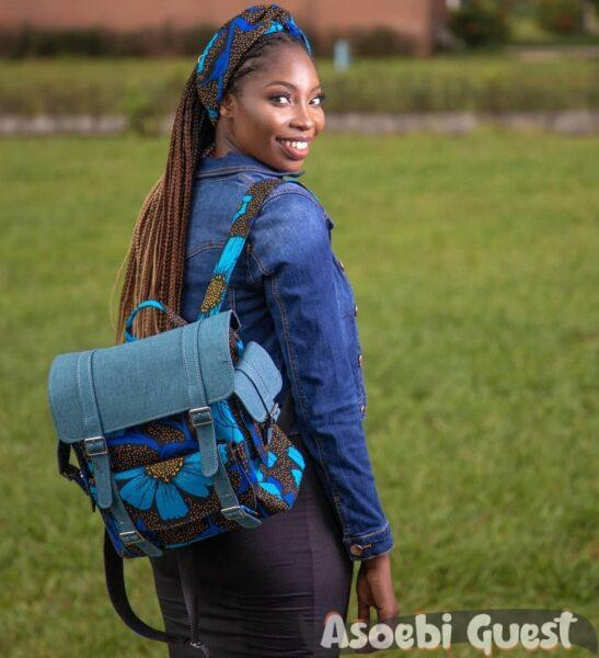 asoebi back pack @becawax