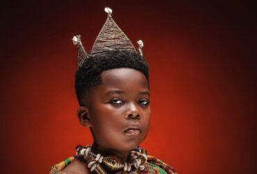 cute royal son in Ghanian Kente