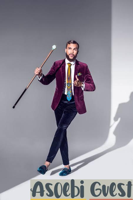 jidenna the classic man in Ankara tie
