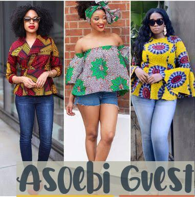 ladies mixing ankara with western style