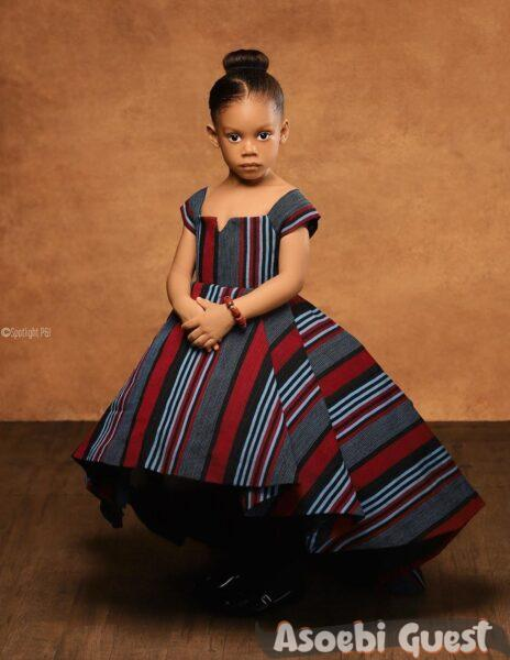 Little princess in aso oke fabric