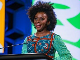 Chimamanda Ngozi Adichie in ankara